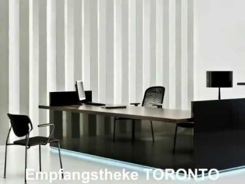Empfangstheke TORONTO von AS Büromöbel - YouTube