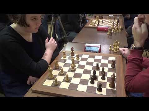 WFM Sinitsina – GM Neiksans, Reti opening, Blitz chess