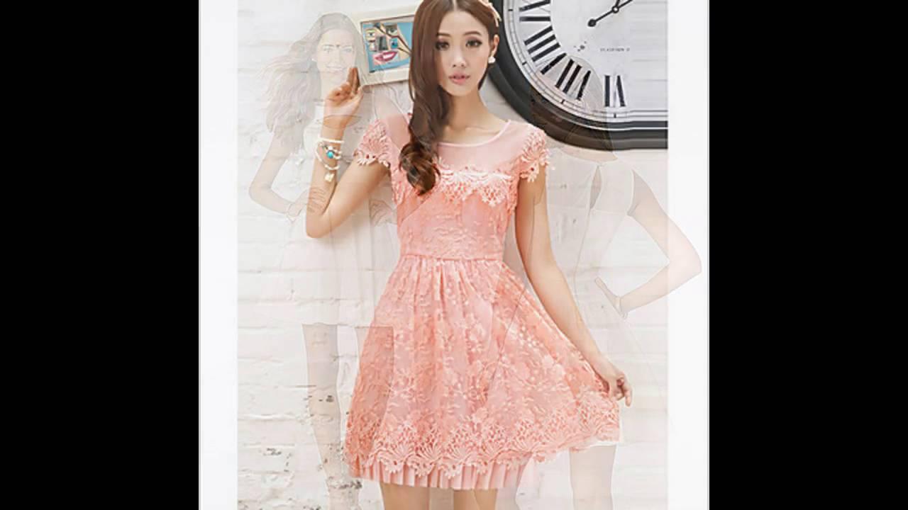 742e57d9a Vestidos de moda juveniles casuales de gasa - YouTube