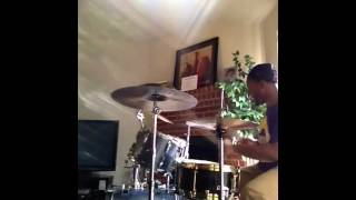 James Jb Brown messing  around on drums