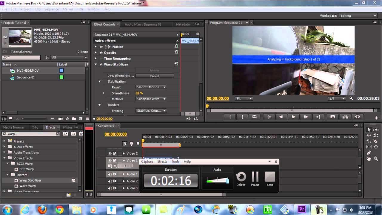 How to Use Warp Stabilizer in Adobe Premiere Pro