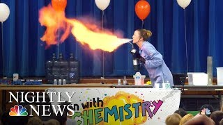 Teacher Makes Chemistry Fun With Exploding Experiments | NBC Nightly News