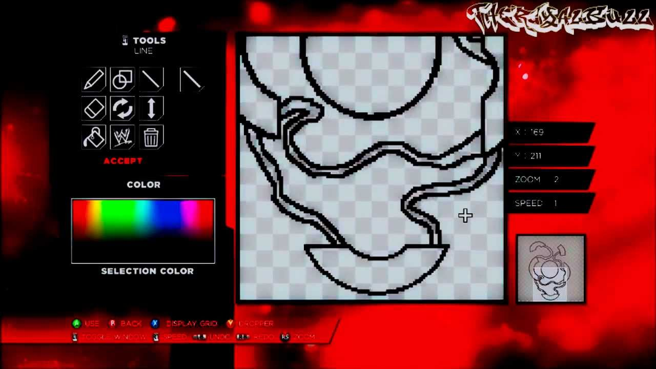 wwe 2k14 paint tools tutorial ink 4 how to make