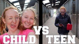 CHILD VS TEEN SKETCH | PAARDRIJDEN MET PLEZIER