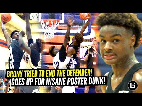 Bronny James AINT SCARED OF CHICAGO'S TOUGHEST TEAM!! Goes Up For INSANE POSTER DUNK!!!