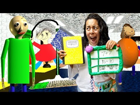 Baldi's Basics Game IN REAL LIFE with ENEMIES!