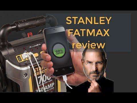 STANLEY FATMAX J7CS Jump Starter 700  Air Compressor battery charger review