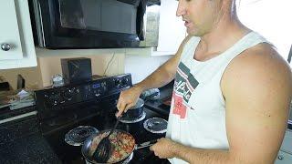 Healthy Bodybuilding Meal - Kale & Ground Turkey Stir Fry