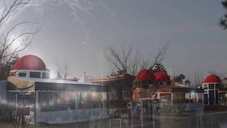 청암산오토캠핑장 전경 서해유리방갈로 입점사진