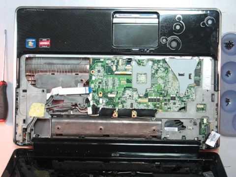 Разборка ноутбука HP DV6