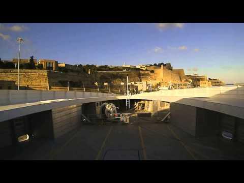 Timelapse Condor 102 Valletta Port - Malta