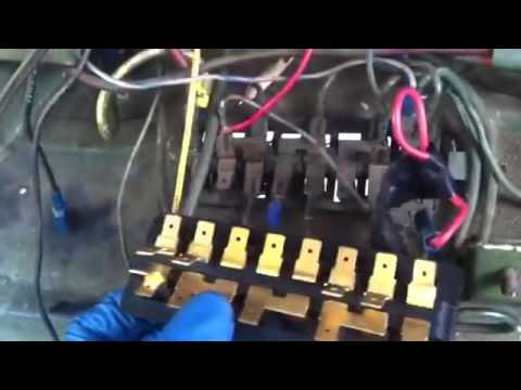 fuse block installation 1965 vw beettle youtube rh youtube com vw bug fuse box diagram fuse box 74 vw bug