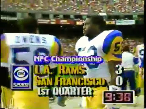 1990 NFC Championship Game LA Rams 13-5 at San Francisco 49ers 15-2