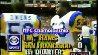 1990 NFC Championship Game LA Rams 13-5 at San Francisco 49ers 15-2