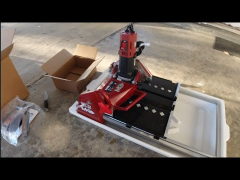 mk compact tabletop wet tile saw review