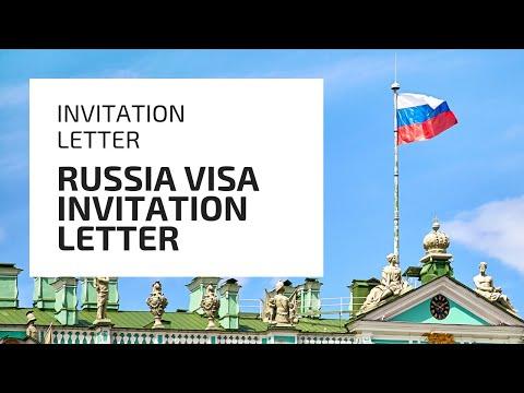 Invitation Letter For Russia Visa | Russian Visa Invitation Letter