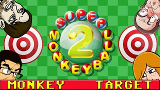 Super Monkey Ball 2 Mini Games (4 Player) Part 1 - Monkey Target
