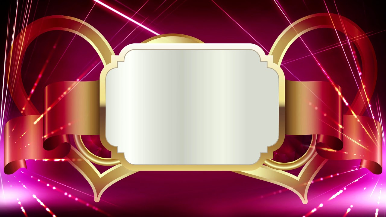 Beautiful Red And Gold Title Background