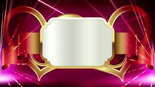 Wunderschöne Rot und Gold-Titel-Hintergrund || Hochzeit-Titel Hintergrund || DMX-HD-BG 243