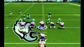 NFL 2K3/ EAGLES VS VIKINGS (1ST QTR) [PS2] [HD]