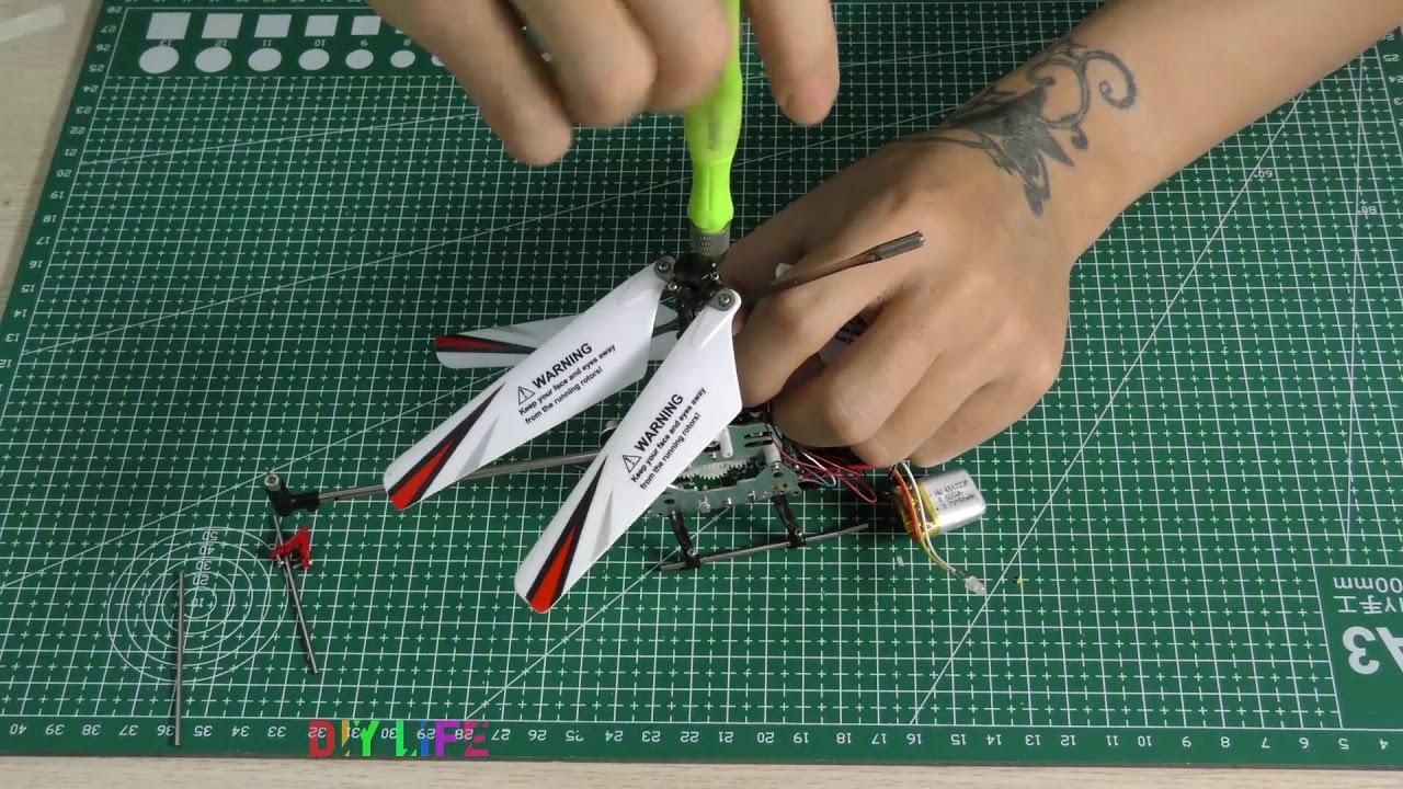 Chế tạo máy bay trực thăng điều khiển từ xa đơn giản