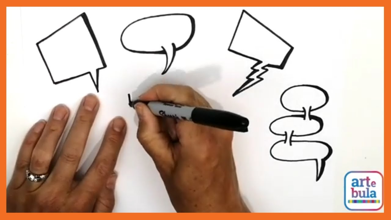 How to Draw Comic Book Speech Bubbles