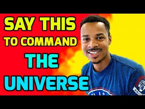 How To COMMAND the UNIVERSE Using I AM AFFIRMATIONS (Law of Attraction)