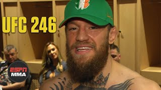 Download lagu Conor McGregor emotional after Cowboy Cerrone TKO win at UFC 246 | ESPN MMA
