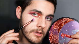Trying To Do My Makeup For ASMR - ASMR Male Makeup Application - Kesha Rose Pallet