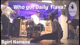 Japan's most flexible Bgirl Nanana at Alffo Record Store Jam. Who's got Daily Flava?
