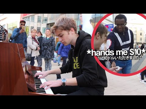 I played GIORNO'S THEME on piano in public