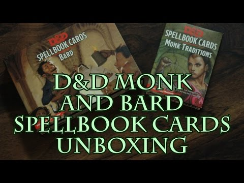 D&D Monk and Bard Spellbook Cards Unboxing