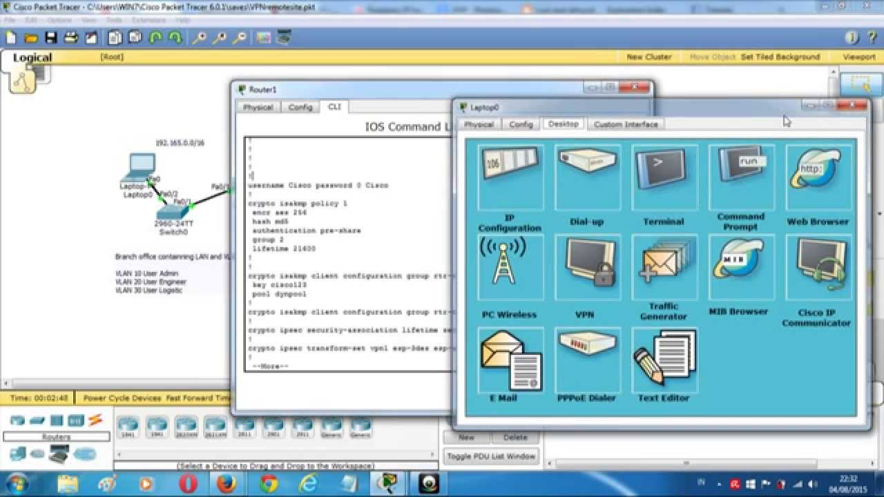 Remote access vpn lab packet tracer