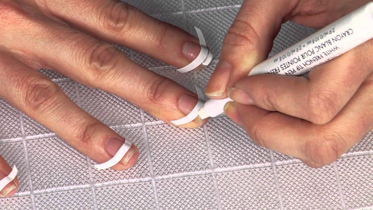 Nailene French Tip Pen Application - YouTube