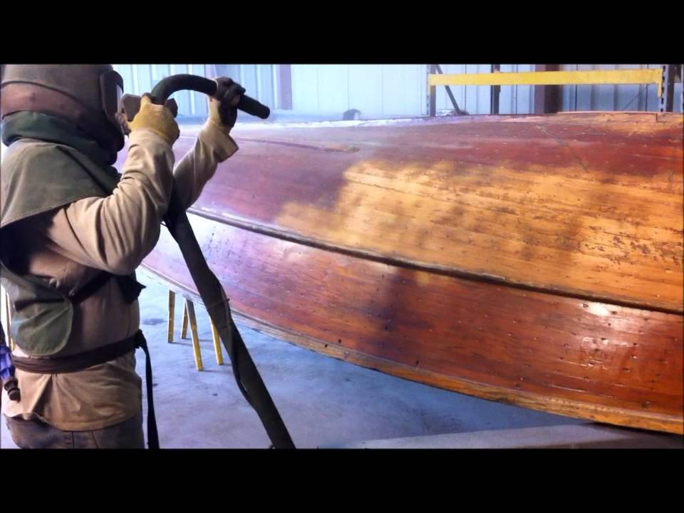 Soda Blasting Indiana, Sand Blasting Indiana, Wood Boat Blasted With Soda  By Freedom Blasting   YouTube