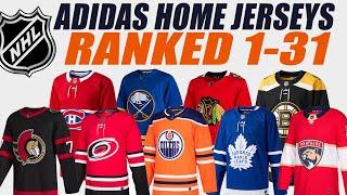 NHL Adidas HOME Jerseys Ranked 1-31!