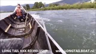 МОТОР-ВЕСЛО LTB-15 л.с. на 10 МЕТРОВОЙ лодке по р.Абакан
