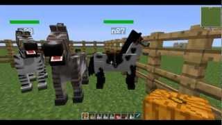 Como hacer un caballo de fuego, un unicornio y un pegaso zombie en minecraft 1.7