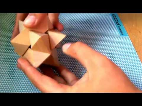 How to - 6 pieces Wooden Star Puzzle Assemble and Disassemble Solution