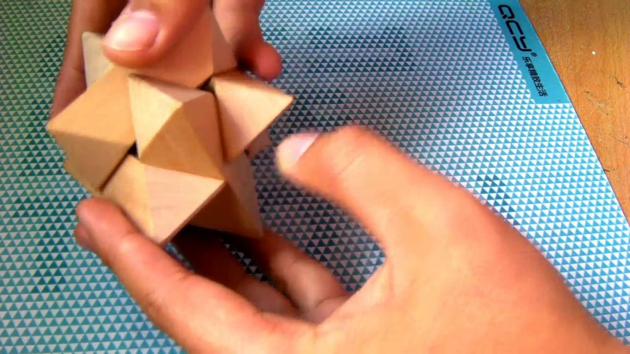 How To 6 Pieces Wooden Star Puzzle Assemble And Disassemble Solution