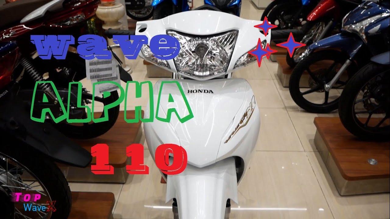 Honda Wave Alpha 110 2021 - Màu trắng - Walkaround | Top ...