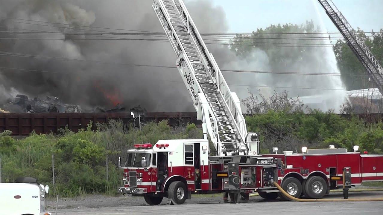 Metalico Scrap Yard Fire - East Syracuse, NY - YouTube