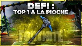 DÉFI : FAIRE TOP 1 A LA PIOCHE UNIQUEMENT (Fortnite Battle Royale)