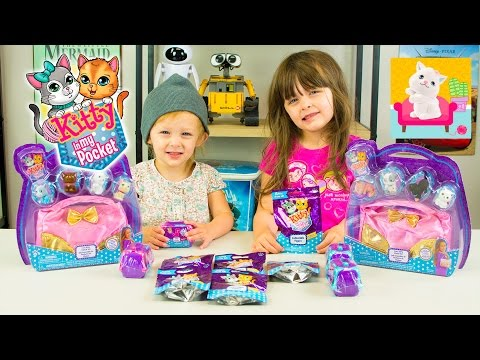 Kitty in my Pocket Surprise Toys Cute Kitty Clutch Set Adorable Toys for Girls Kinder Playtime