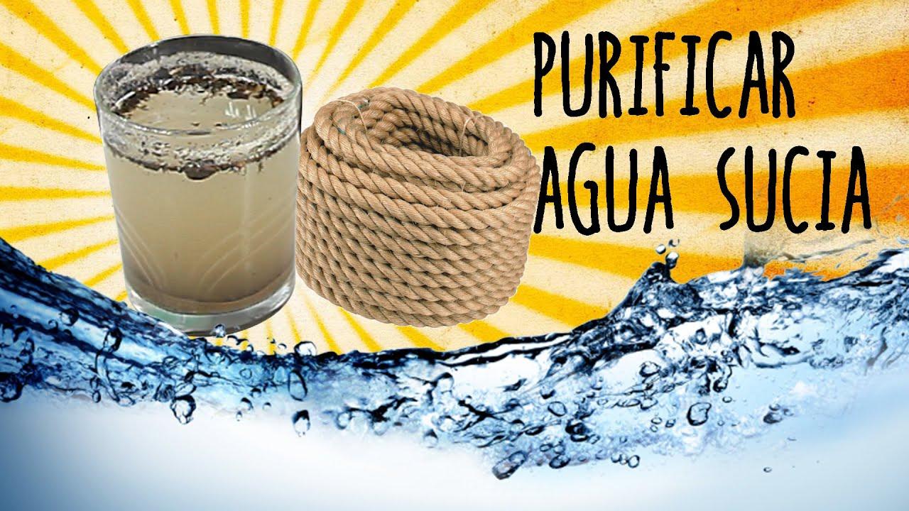 Cmo purificar agua con un cordn  Exp Supervivencia  YouTube