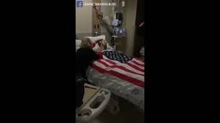 Nurse Lays Flag over Dying Veteran  Calls His Name as They Salute Him Final Time