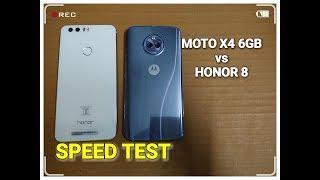 Moto X4 6GB vs Honor 8 - Speed Test   Fingerprint Test   Multitasking