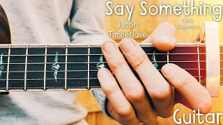 Say Something Justin Timberlake Guitar Tutorial // Say Something Guitar // Lesson #399