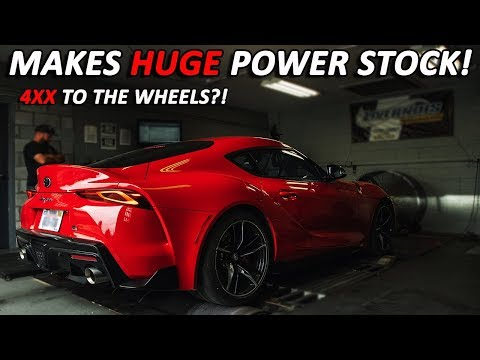 TOYOTA LIED ABOUT 2020 SUPRA HP NUMBERS *first DYNO hp and tq*