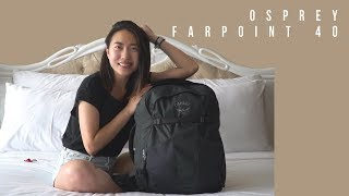 How I pack my travel backpack - Osprey Farpoint 40 Review | Delia X